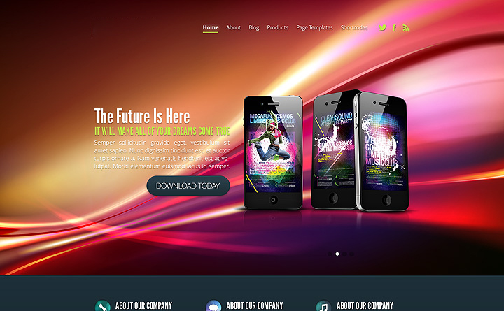 dynamic website design / template