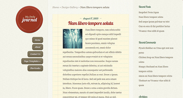 blogger website design example - the optimacy group